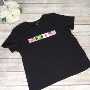 Forever 21 + Black Flags Crewneck T-Shirt Size 0X